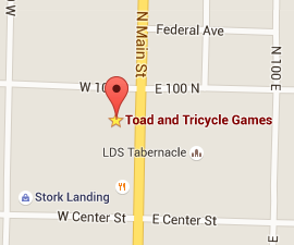 Directions to Toad and Tricycle GamesStore